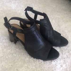 Franco Sarto Block Heel Peep Toe Slingbacks